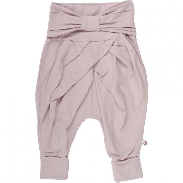 Müsli bow it bukser med sløjfe rosa