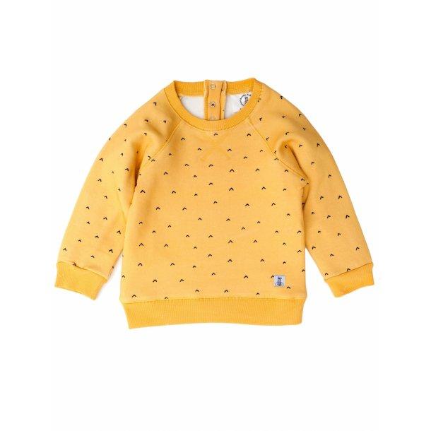 Karrygul sweatshirt med pile - mustard - Bumble & Bee