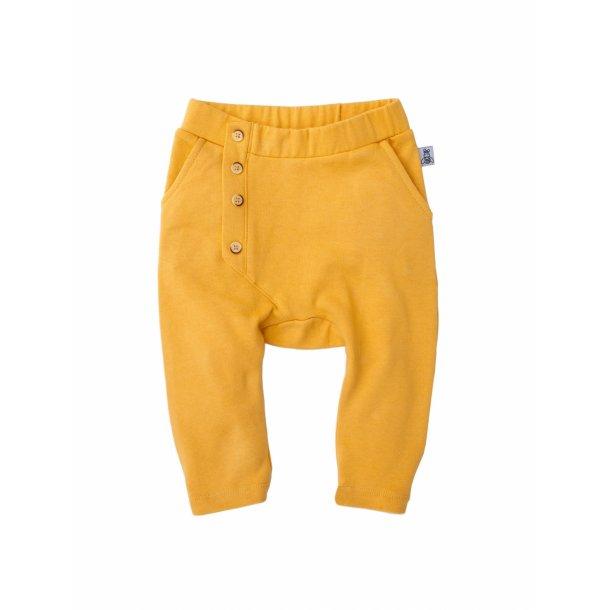 Karrygule bukser i økologisk bomuld - Slouch Pants Mustard -Bumble & Bee