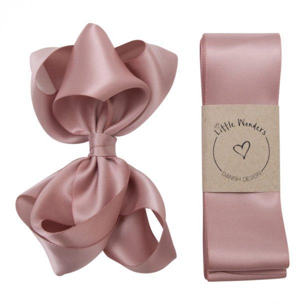 Dåbsbånd til piger i støvet rosa silke
