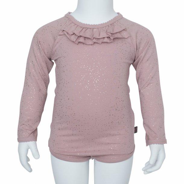Støvet rosa body med glimmer