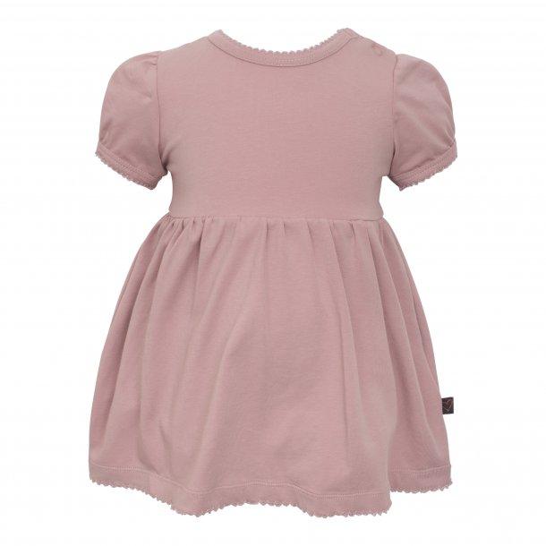 Little Wonders kortærmet bodykjole i støvet rosa