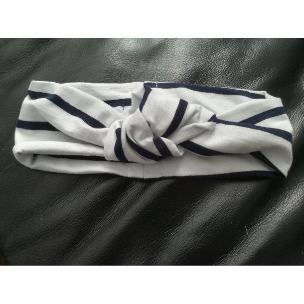 Hårbånd i hvid med blå striber - Strojmisie