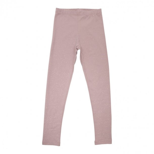 Little Wonders leggings i støvet rosa med glimmer (3 - 8 år)