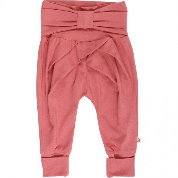 Cozy me bow pants - dream rose - Müsli