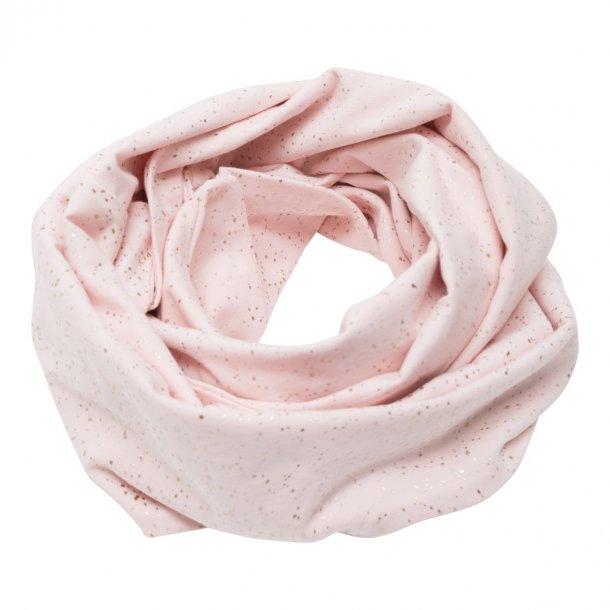 Little Wonders tube tørklæde med knapper i Nude glimmer
