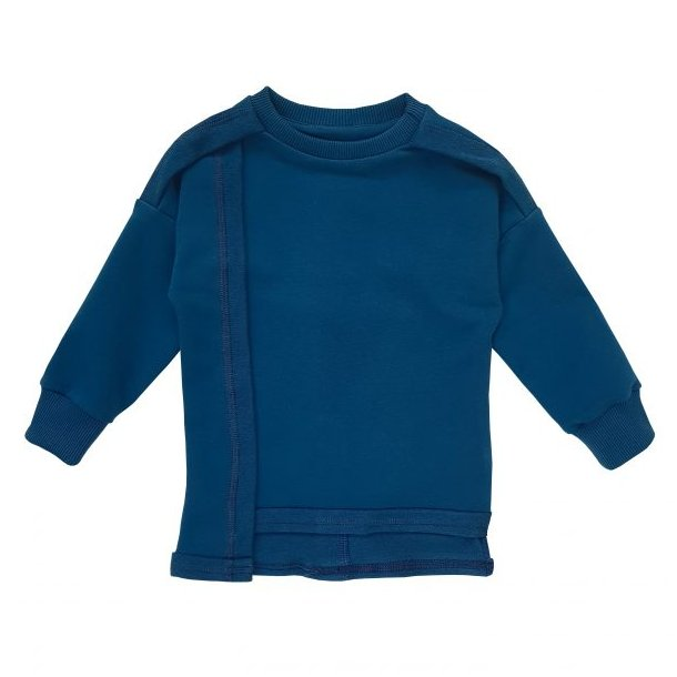 Navy asymmetrisk sweatshirt - Strojmisie
