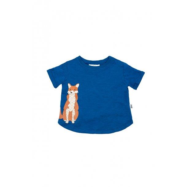 T-shirt med ræv i økologisk bomuld - Bumble &Bee