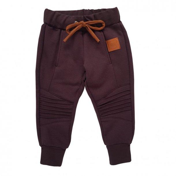 Chokolade farvet/brune jogging bukser - Strojmisie