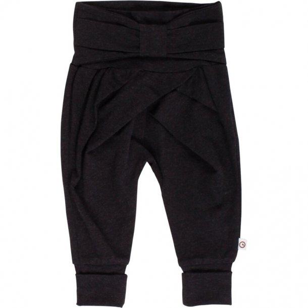 Cozy me bow pants - mørkegrå - Müsli