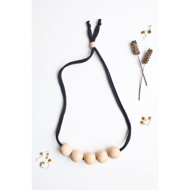 BLACK BIG BUMBLE CLASSIC NURSING NECKLACE -  halskæde sort