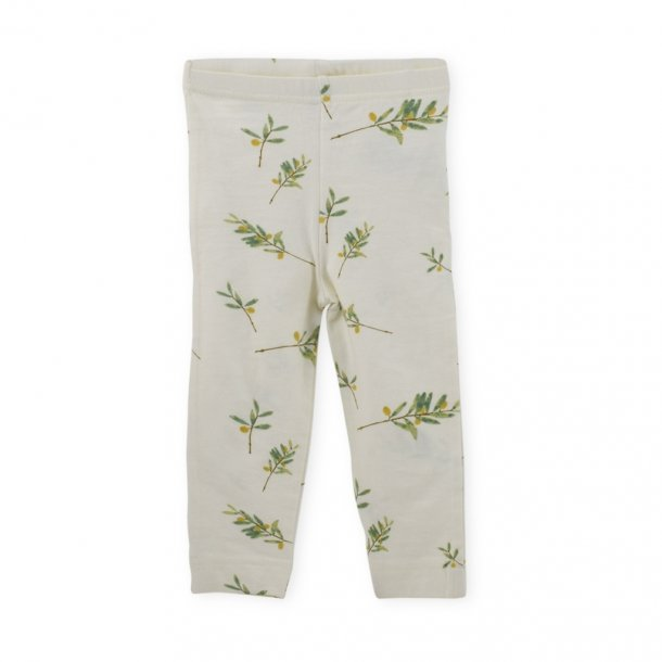 Leggings med oliven print Petit Piao