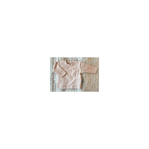The LS pocket basis trøje i lyserød/pink tint - Adore Us Babies