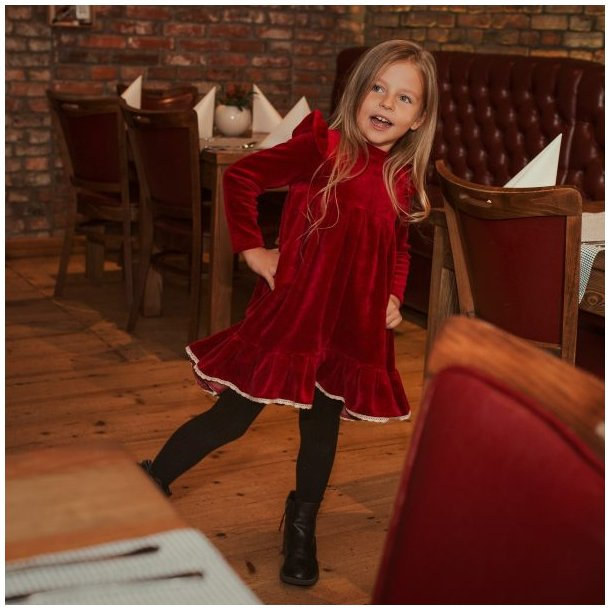 Rød julekjole - Strojmisie