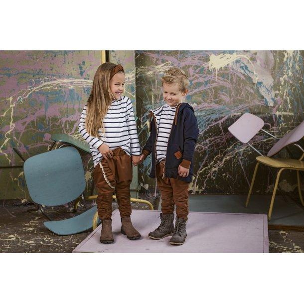 karamel farvet bukser med flæse - Strojmisie