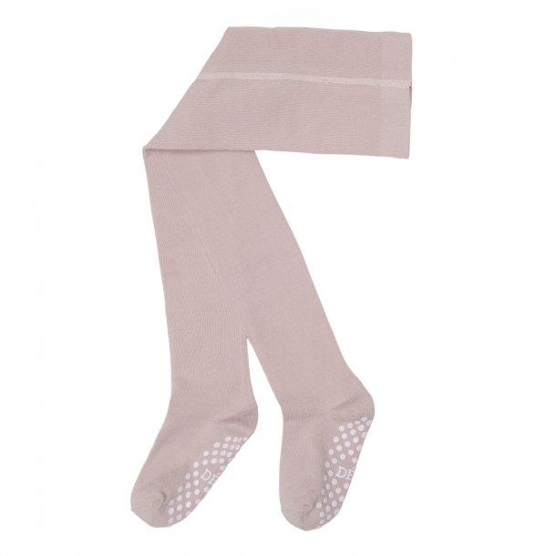Strømpebukser med skridsikker materiale - støvet rosa - DÉT DANMARK -
